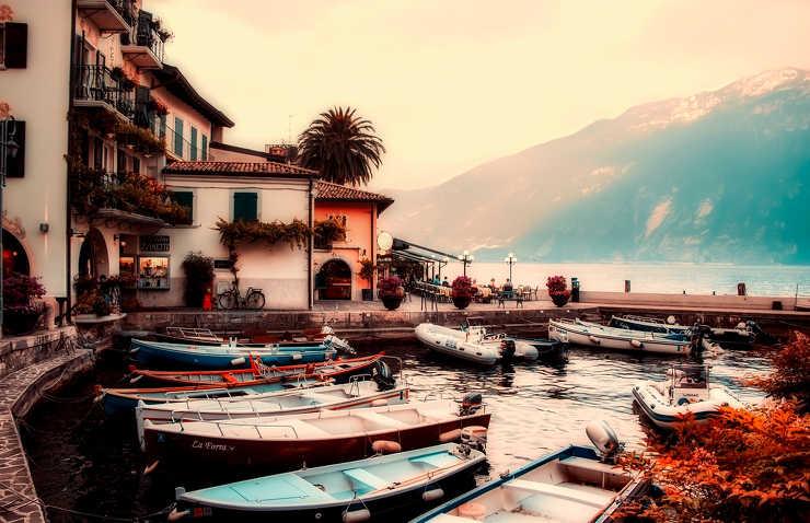 Z widokiem na Jezioro Garda